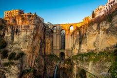 A vila de Ronda na Andaluzia, Espanha. Foto de Stock Royalty Free