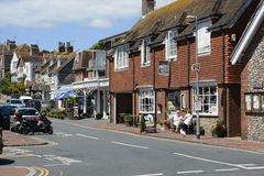 Vila de Rottingdean em Sussex do leste inglaterra Fotografia de Stock