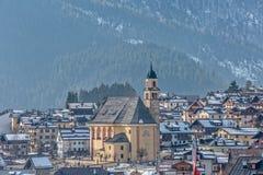 Vila de Sappada em Itália Imagens de Stock