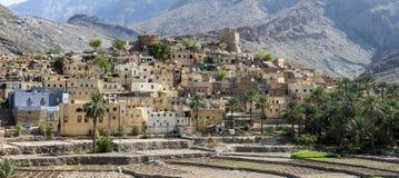 Vila de Sayt calvo nas montanhas de Omã Imagens de Stock