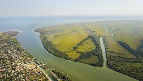 Vila de St George, delta de Danúbio, Romênia Foto de Stock