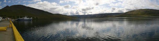 Vila de Talknafjordur, Westfjords de Islândia Imagem de Stock