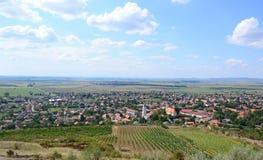 Vila de Tarcal no dell, Hungria foto de stock