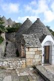 Vila de Trulli em Alberrobello, Itlay Fotos de Stock
