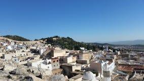 Vila de Tunesia nas montanhas Imagem de Stock Royalty Free