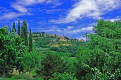 Vila de Tuscan de Montepulciano Foto de Stock