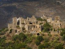 Vila de Vathia, Peloponnese, Grécia Imagens de Stock Royalty Free