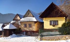 Vila de Vlkolinec, arquitetura velha, Eslováquia Imagem de Stock
