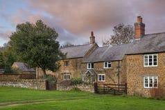 Vila de Warmington, Warwickshire, Inglaterra Foto de Stock Royalty Free