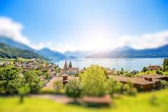 Vila de Weggis em Suíça Imagem de Stock