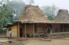 Vila de Wogo, ilha de Flores Foto de Stock Royalty Free