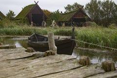 A vila dinamarquesa de Viking imagem de stock royalty free