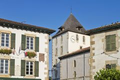 Vila do basque de Sare imagens de stock royalty free