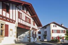 Vila do basque de Sare fotografia de stock royalty free