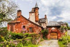 Vila do Collonges-la-vermelho Fotos de Stock