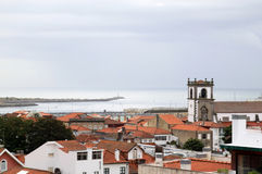 Vila do Conde and the Atlantic Ocean, Portugal Royalty Free Stock Images