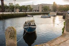 Vila Do Conde rzeka Ave zdjęcie royalty free