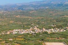 Vila do Cretan imagens de stock