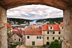 Vila do dalmatian de Vrboska Fotografia de Stock