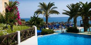 Vila do feriado de Malama, Protaras, Chipre foto de stock