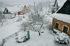 Vila do inverno Fotos de Stock