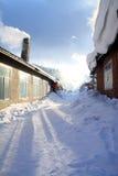 Vila do inverno na porcelana do nordeste Imagens de Stock Royalty Free