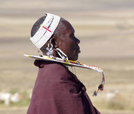 Vila do Masai tanzânia Foto de Stock Royalty Free