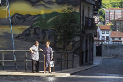 Vila do pescador de Bermeo na costa do país Basque Europ Fotografia de Stock Royalty Free