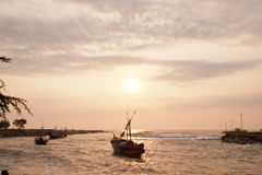 Vila do pescador, Tailândia Foto de Stock Royalty Free