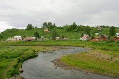 Vila do russo de Ninilchik imagens de stock