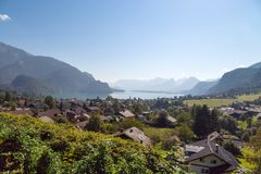 Vila do St Gilgen em Salzburg Áustria Fotografia de Stock