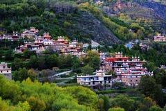 Vila do tibetano de Danba Jiaju Foto de Stock