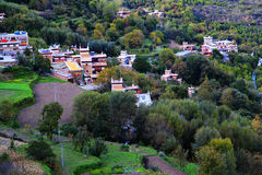 Vila do tibetano de Danba Jiaju Imagem de Stock Royalty Free