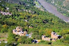 Vila do tibetano de Danba Jiaju Foto de Stock Royalty Free