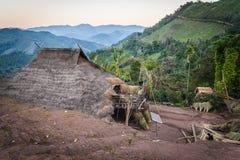 Vila do tribo do monte Imagem de Stock