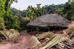 Vila do tribo do monte Imagens de Stock