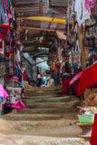 Vila do tribo do monte de Doi Pui, mercado do artesanato da minoria étnica de povos do miao ou do hmong ou do maew no MAI de Chia Fotos de Stock Royalty Free