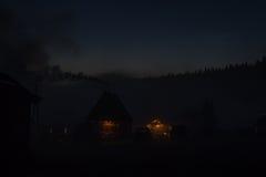 Vila do turista da noite Imagens de Stock