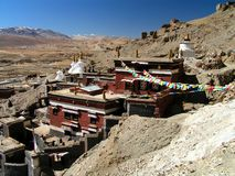 Vila dos Himalayas - Tibet - de Sakya fotografia de stock