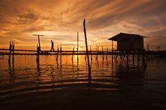 Vila dos pescadores Fotos de Stock Royalty Free