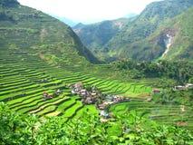 Vila dos terraços do arroz de Batad Fotografia de Stock Royalty Free