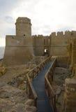 A vila e o castelo foto de stock royalty free