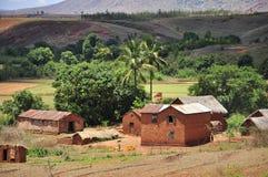 Vila e paisagem de madagascar Fotos de Stock Royalty Free