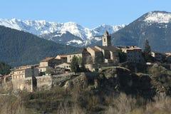 Vila em Catalonia, Pyrenees Fotos de Stock