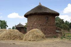 Vila em Etiópia Imagem de Stock Royalty Free