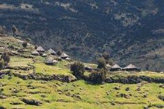 Vila em Etiópia. Foto de Stock