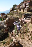 Vila em Isla del Sol, lago Titicaca, Bolívia Imagem de Stock Royalty Free