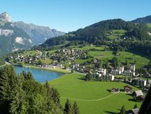 Vila em Luzern switzerland foto de stock