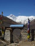 Vila em Nepal fotografia de stock