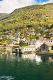 Vila em Noruega Imagem de Stock Royalty Free